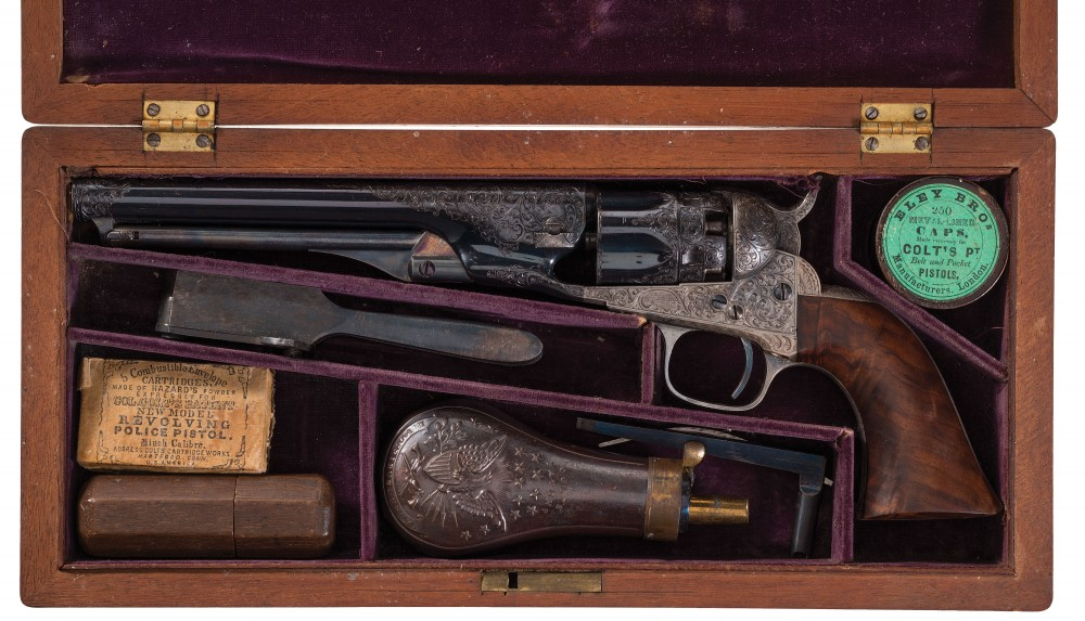 Gavels 'n' Paddles: Samuel Colt police revolver, $460,000, Rock Island Auction
