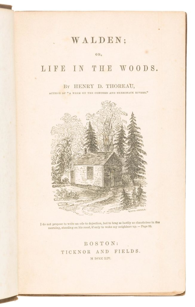 Gavels 'n' Paddles: Thoreau first edition book, $14,400, PBA Galleries