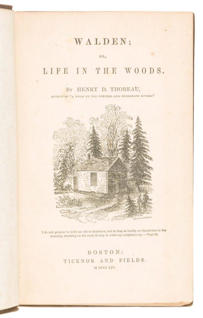 Gavels 'n' Paddles: Thoreau first edition book, $14,400, PBA Galleries
