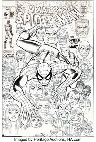 Original Cover Art for The Amazing Spider-Man #100 May Bring $300,000 at Heritage Auctions