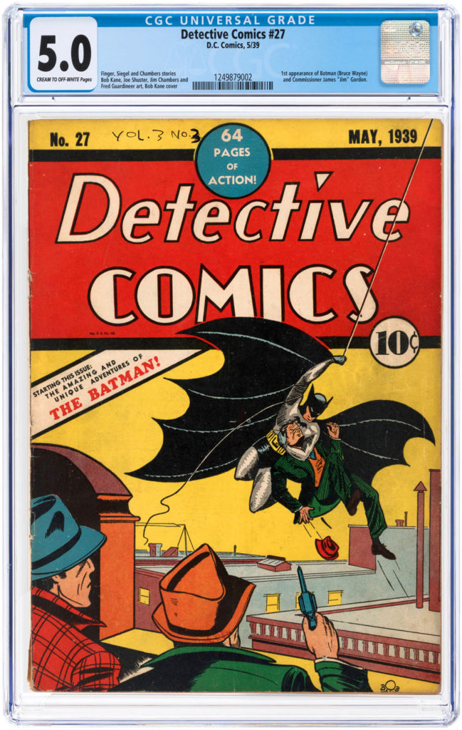 Gavels 'n' Paddles: Copy of Detective Comics #27, $569,275, Hake's Americana