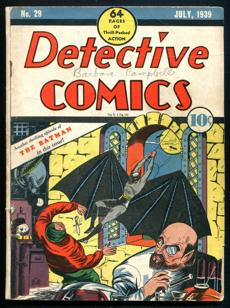 Gavels 'n' Paddles: Detective Comics #29, $53,675, Weiss Auctions