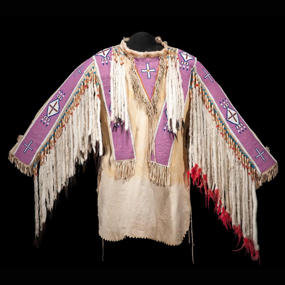 Gavels 'n' Paddles: Beaded hide war shirt, $55,200, Cowan's Auctions