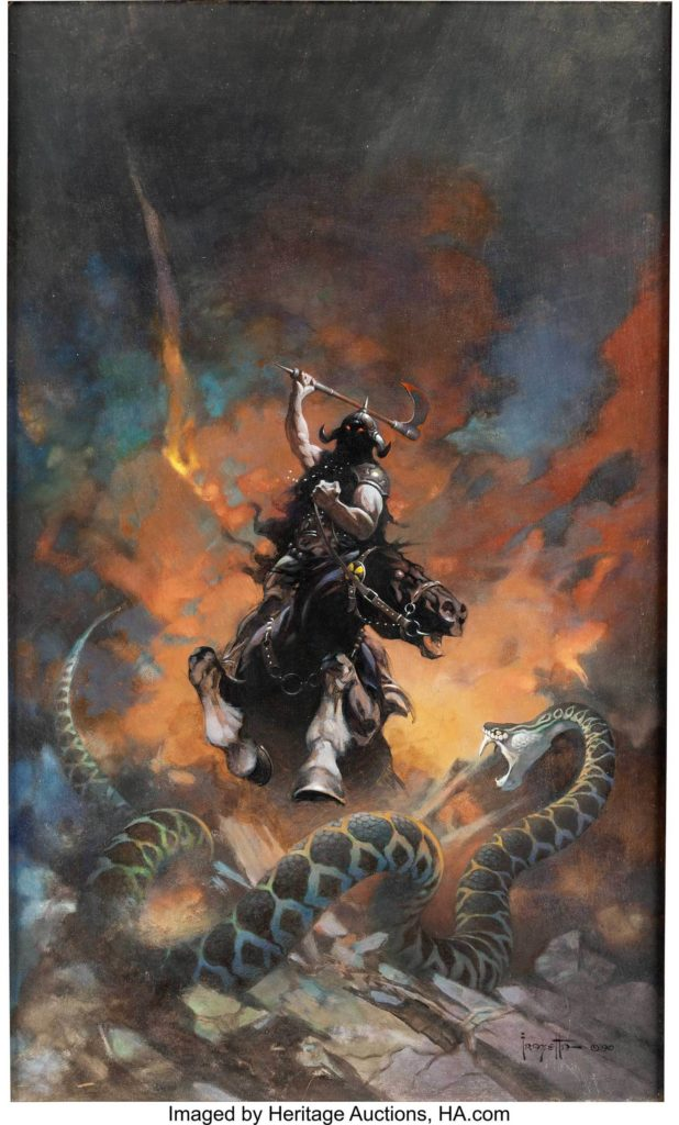 Gavels 'n' Paddles: Frank Frazetta comic cover art, $1.79 million, Heritage Auctions