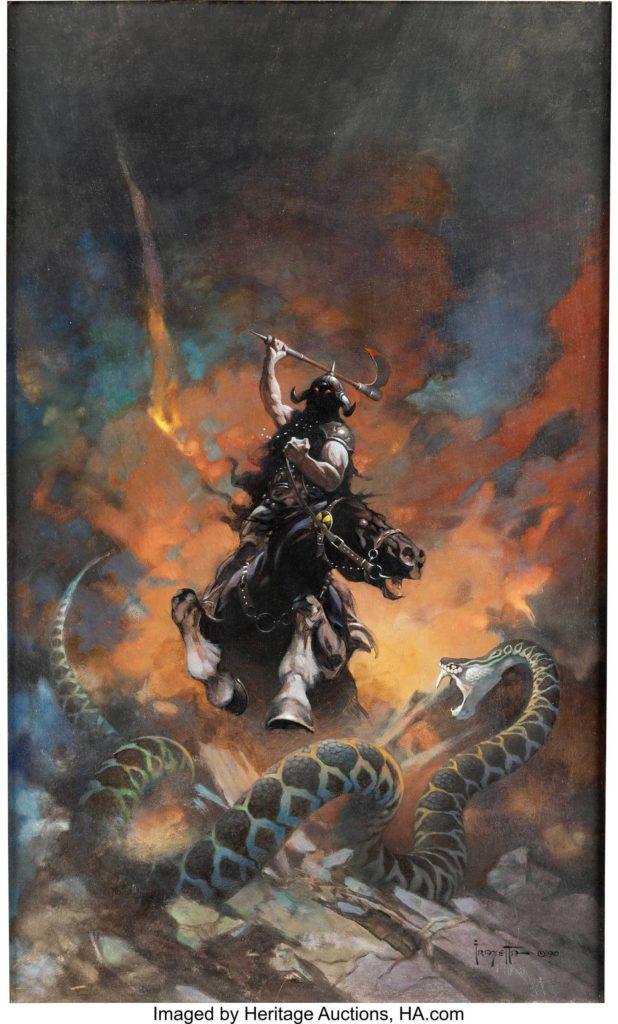 Gavels 'n' Paddles: Frank Frazetta comic cover art, $1.79 million, Heritage Auctions