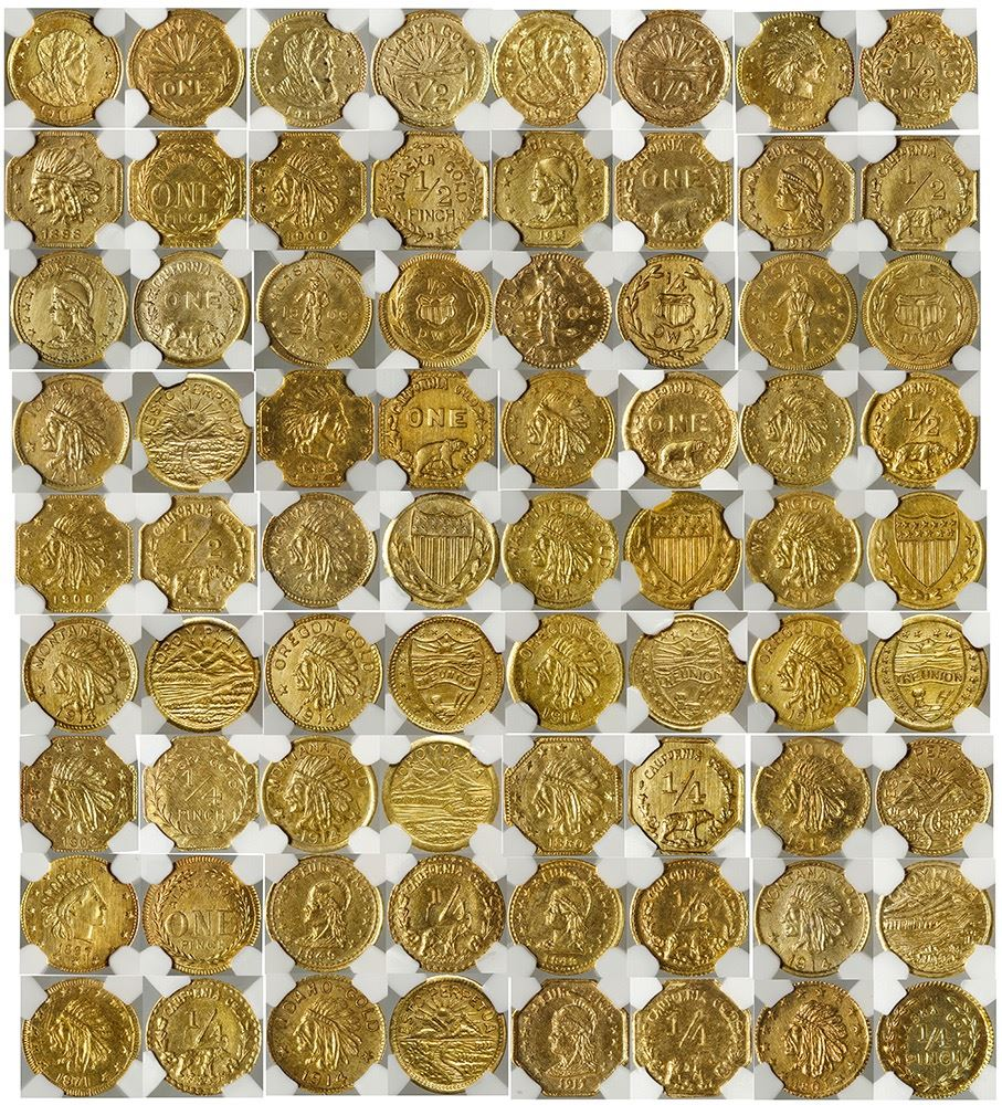 "Gavels 'n' Paddles: ""Harts Coins of the West"" gold coins, $41,572, Holabird Western Americana"