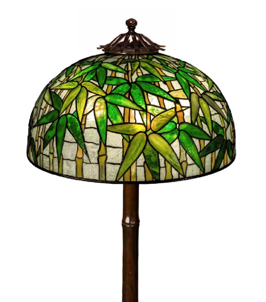 Gavels 'n' Paddles: Tiffany Bamboo floor lamp, $241,900, Cottone Auctions