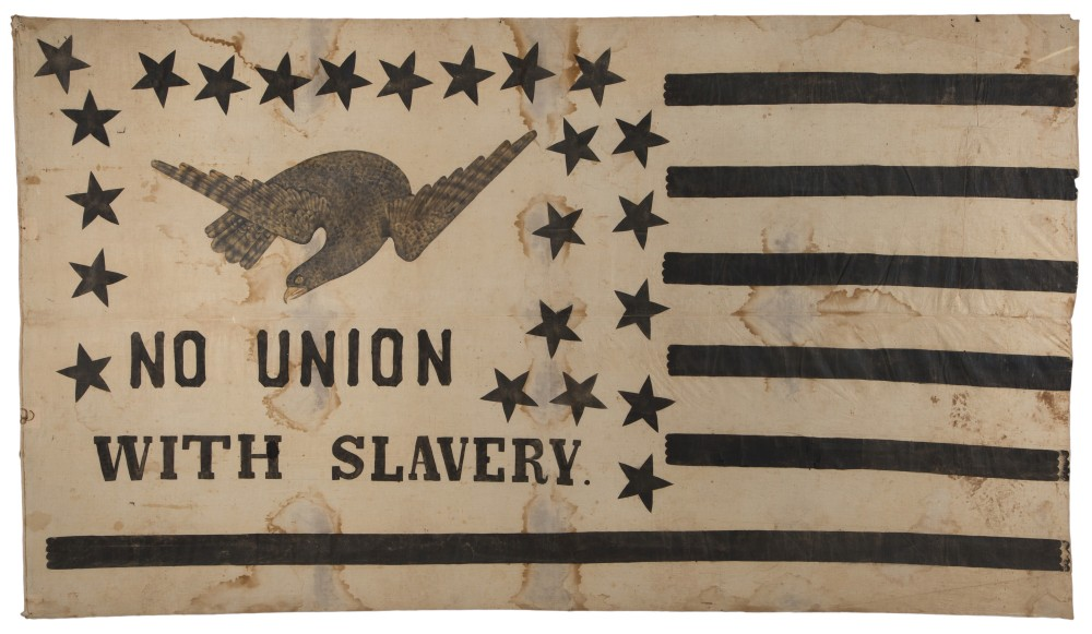 Gavels 'n' Paddles: Anti-slavery flag banner, $46,800, Jeffrey S. Evans