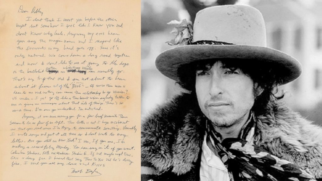 Gavels 'n' Paddles: Bob Dylan signed letter, $29,645, RR Auction