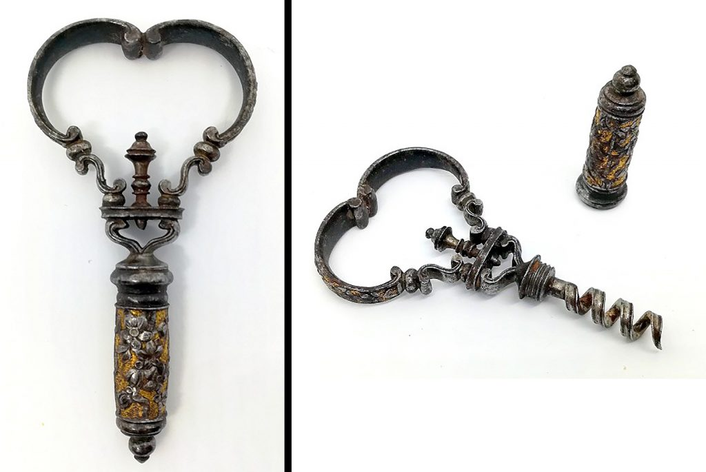 Gavels 'n' Paddles: French 18th century corkscrew, $17,000, CollectorCorkscrews.com