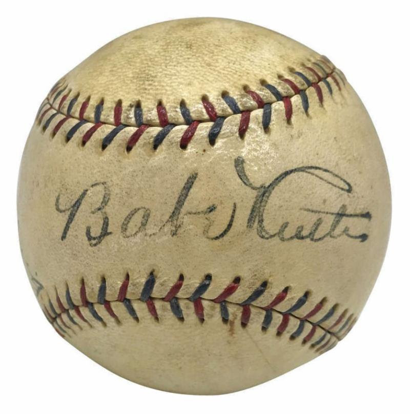 Gavels 'n' Paddles: Ruth / Gehrig signed ball, $42,962, Goldin Auctions