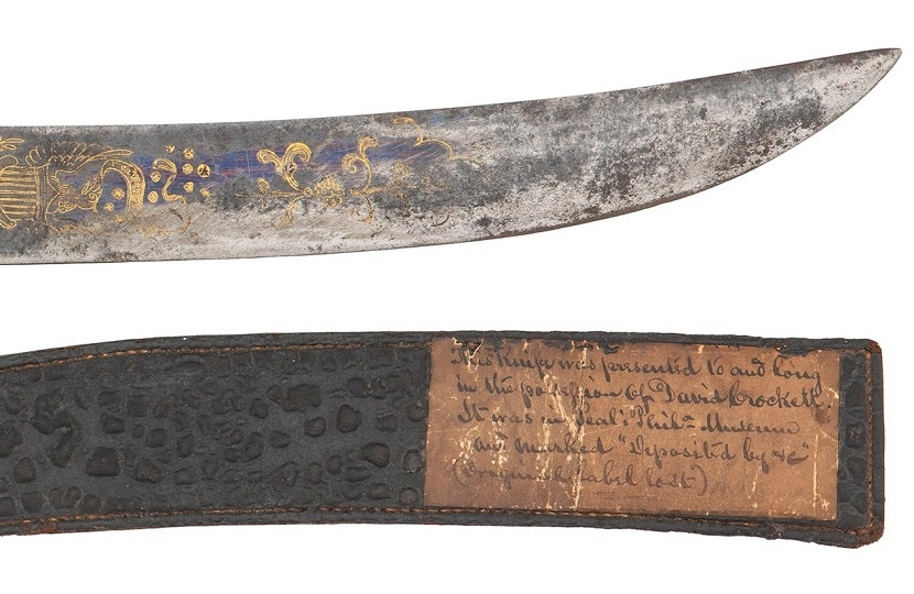 Gavels 'n' Paddles: Davy Crockett's Bowie knife, $64,625, Cowan's Auctions