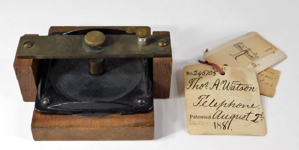 Gavels 'n' Paddles: Early prototype telephone, $40,000, Bruneau & Co.