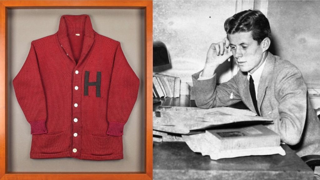 Gavels 'n' Paddles: JFK's Harvard sweater, $34,140, RR Auction