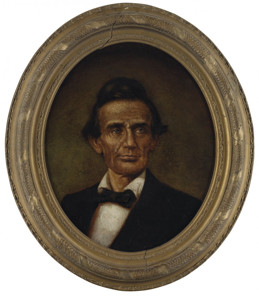 Gavels 'n' Paddles: Portrait of a beardless Lincoln, $40,000, Swann Auction Galleries