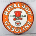Gavels 'n' Paddles: Red Hat porcelain gas sign, $66,000, Morphy Auctions