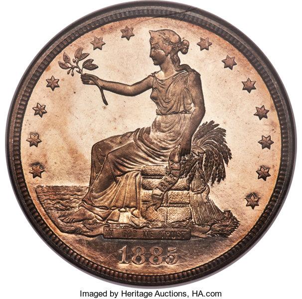 Gavels 'n' Paddles: 1885 U.S Trade dollar, $3.96 million, Heritage