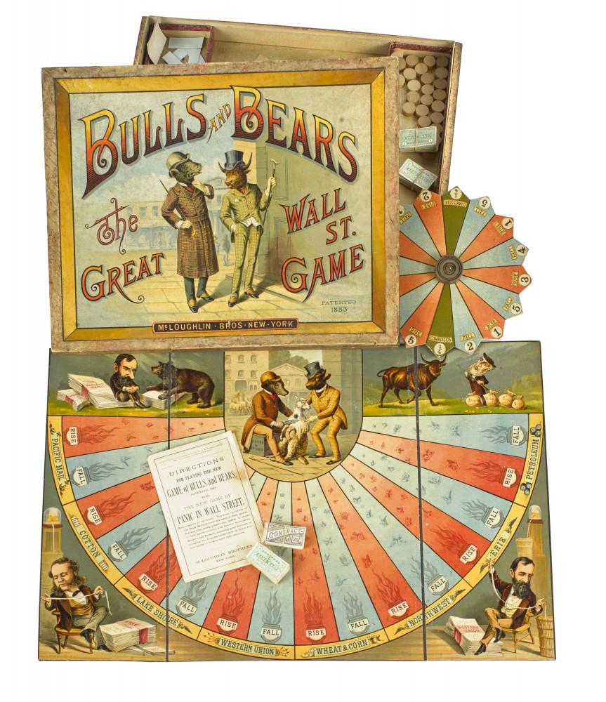 Gavels 'n' Paddles: Bulls and Bears toy game, $20,740, Pook & Pook, Inc.