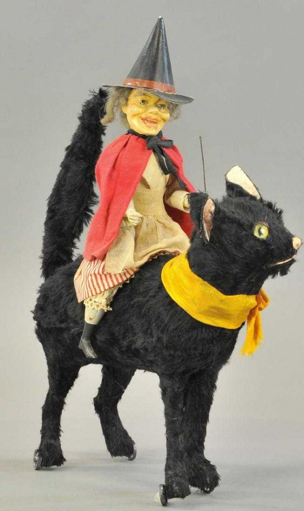 Gavels 'n' Paddles: Witch Atop Mechanical Cat, $21,600, Bertoia Auctions