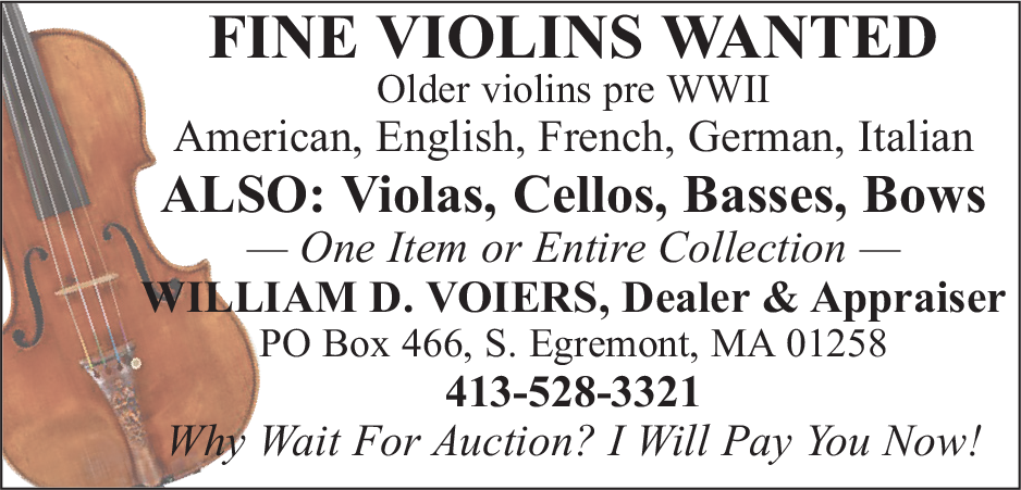 Fine Violins Wanted