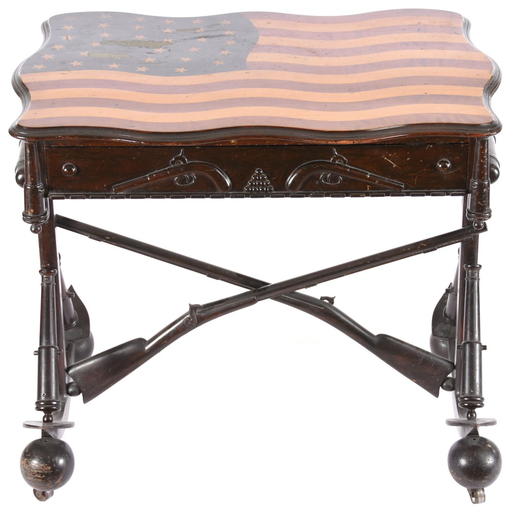 Gavels 'n' Paddles: 35-Star Flag Folk Art Table, $18,000, Woody Auction