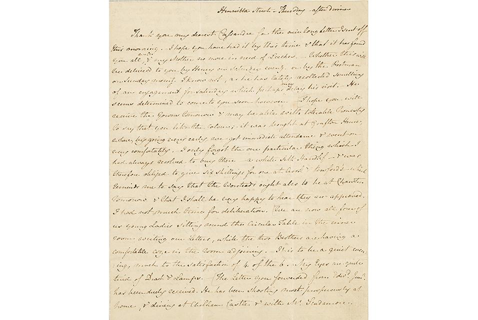Gavels 'n' Paddles: Jane Austen letter, $200,075, Bonhams