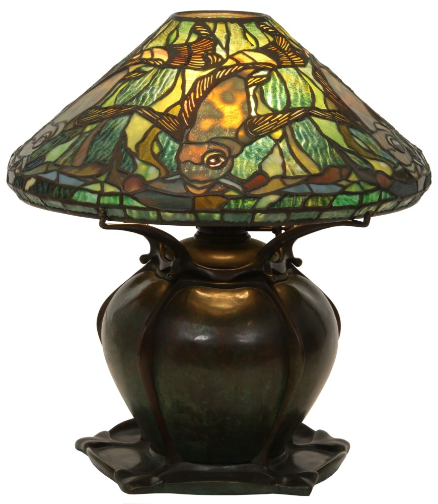 Gavels 'n' Paddles: Tiffany aquatic fish lamp, $193,600, Fontaine's Auction