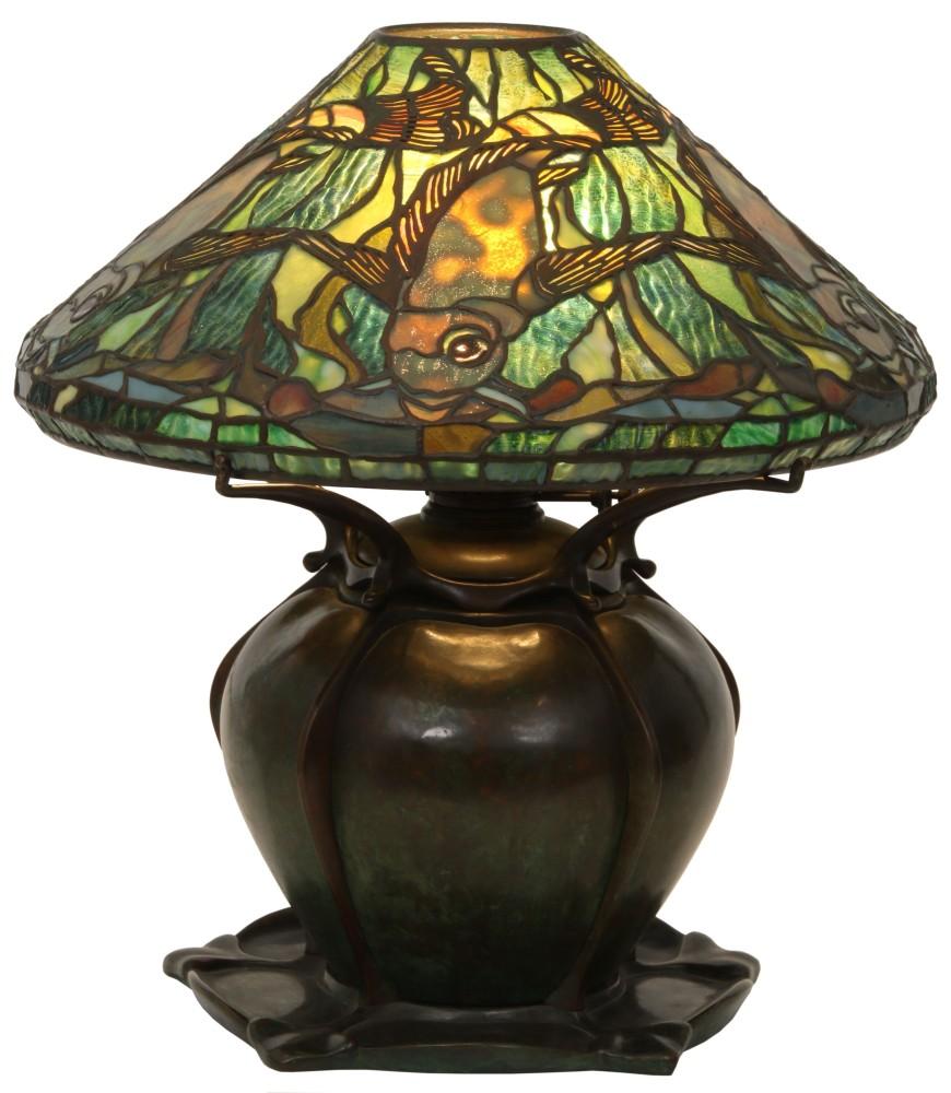 Gavels 'n' Paddles: Tiffany aquatic fish lamp, $193,600, Fontaine's Auction