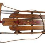 Coasting into Childhood on Vintage Wooden Sleds