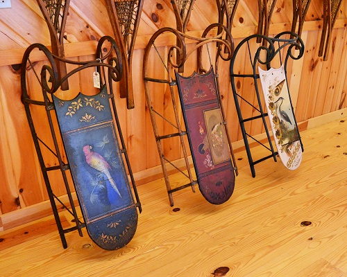 Coasting into Childhood on Vintage Wooden Sleds