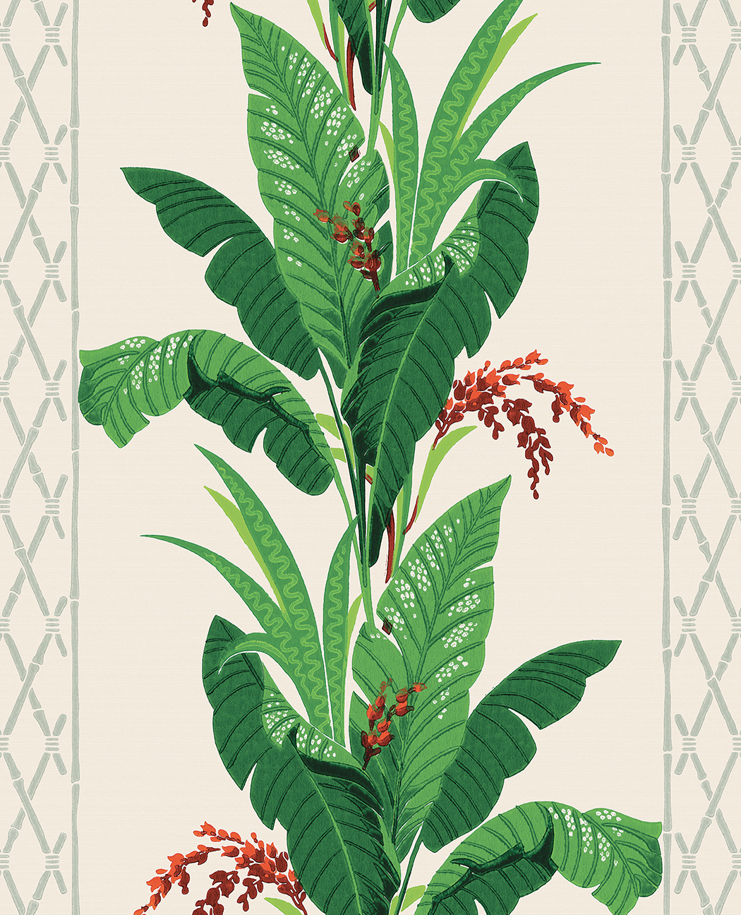 1940s Tropical plant wallpaper
