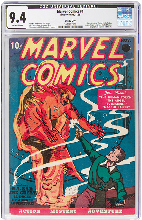 Marvel Comics #1 $1,26 mil