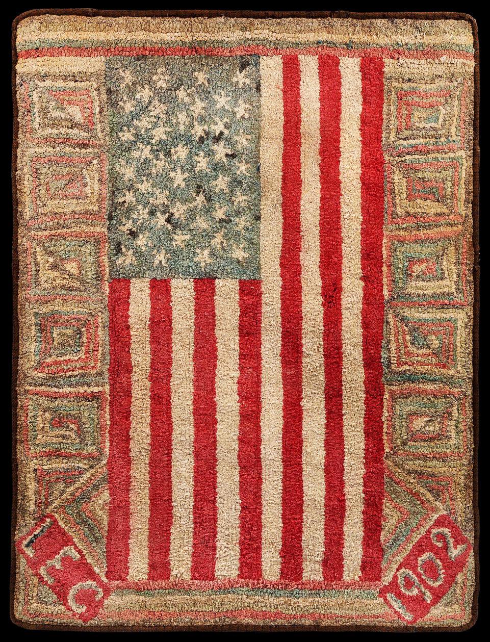 1902-Flag_Hooked_Rug