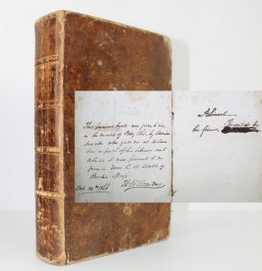 Abraham Lincoln signed book, $175,000, University Archives