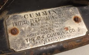 B Cummins Initial Hat Band Perforator, Early 1900s