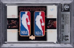 LeBron and Jordan card, $900,000, Goldin Auctions