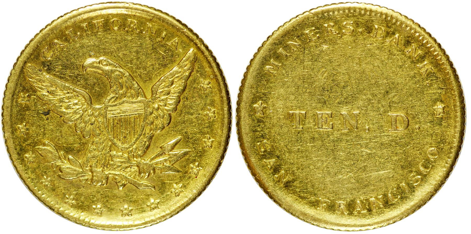 Miners Bank $10 Gold Piece