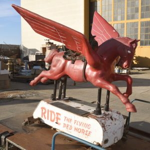 Mobil Oil coin-op kids' ride, $25,200, Michaan's Auctions