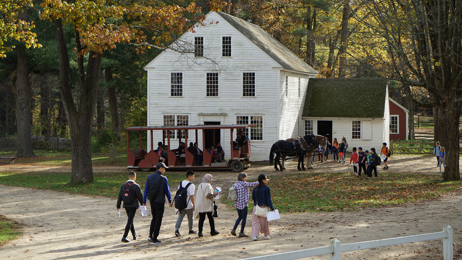 Visitors to Old Sturbridge Village