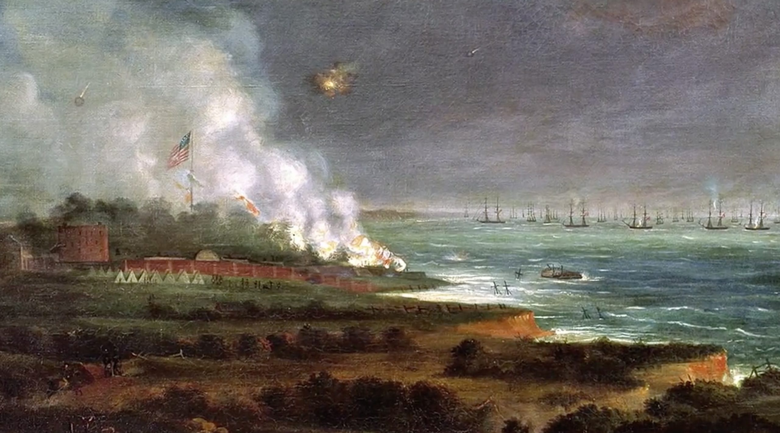 bombardment of fort mchenry by alfred miller