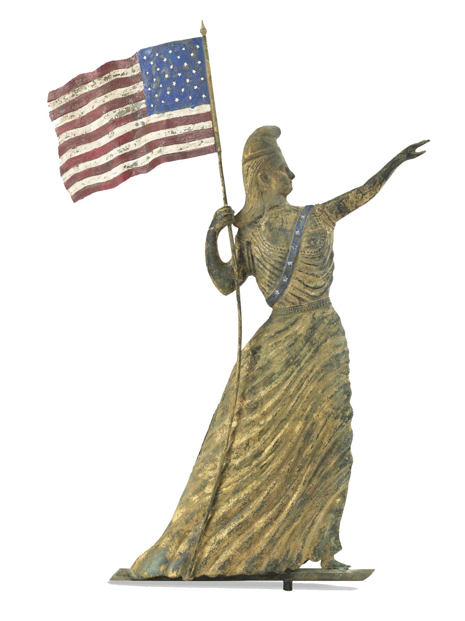 lady liberty weathervane sotheby