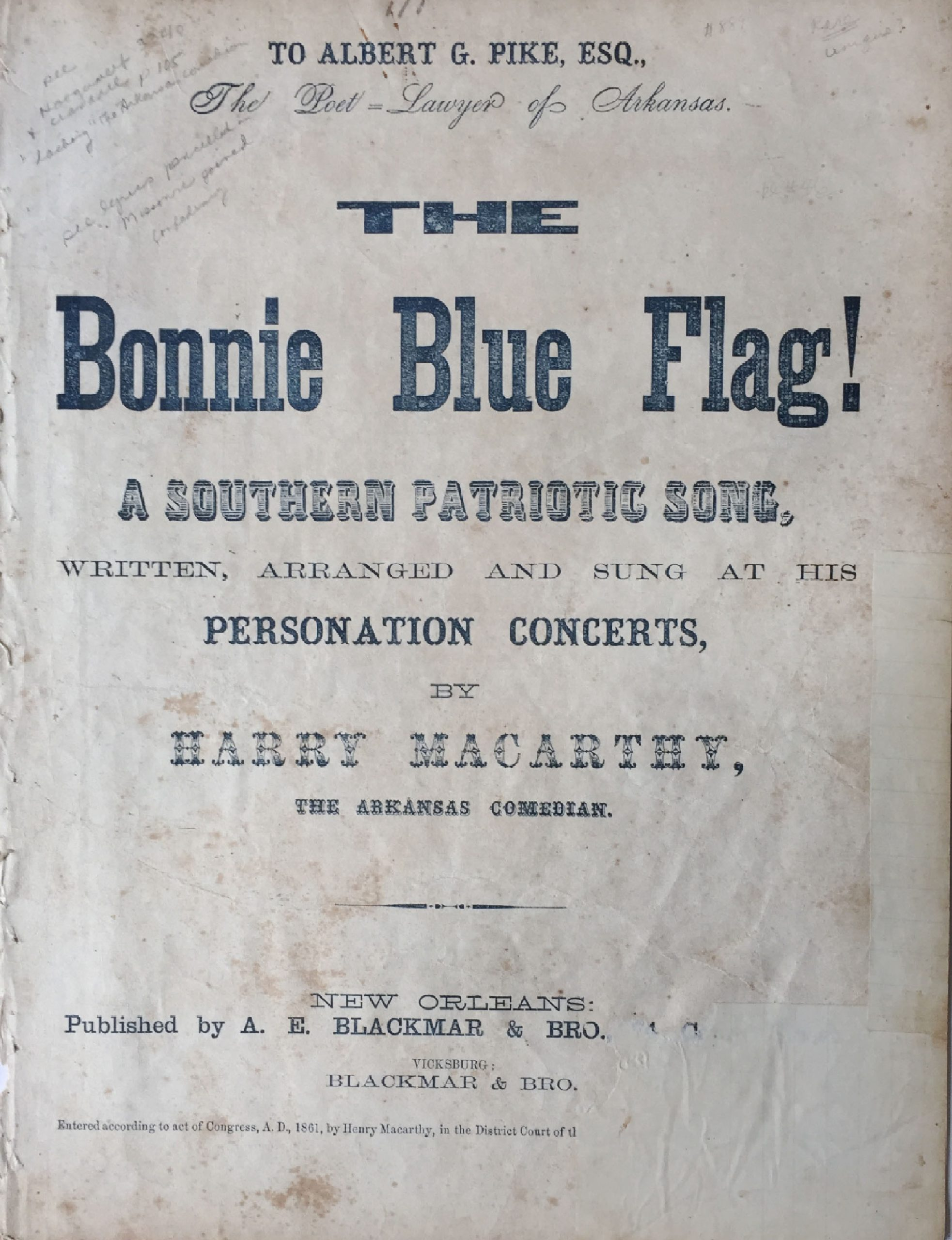bonnie blue flag blackmar