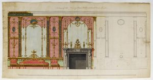 Robert Adam (1728–1792), design for the end wall of the drawing room at Northumberland House, 1770–1773.