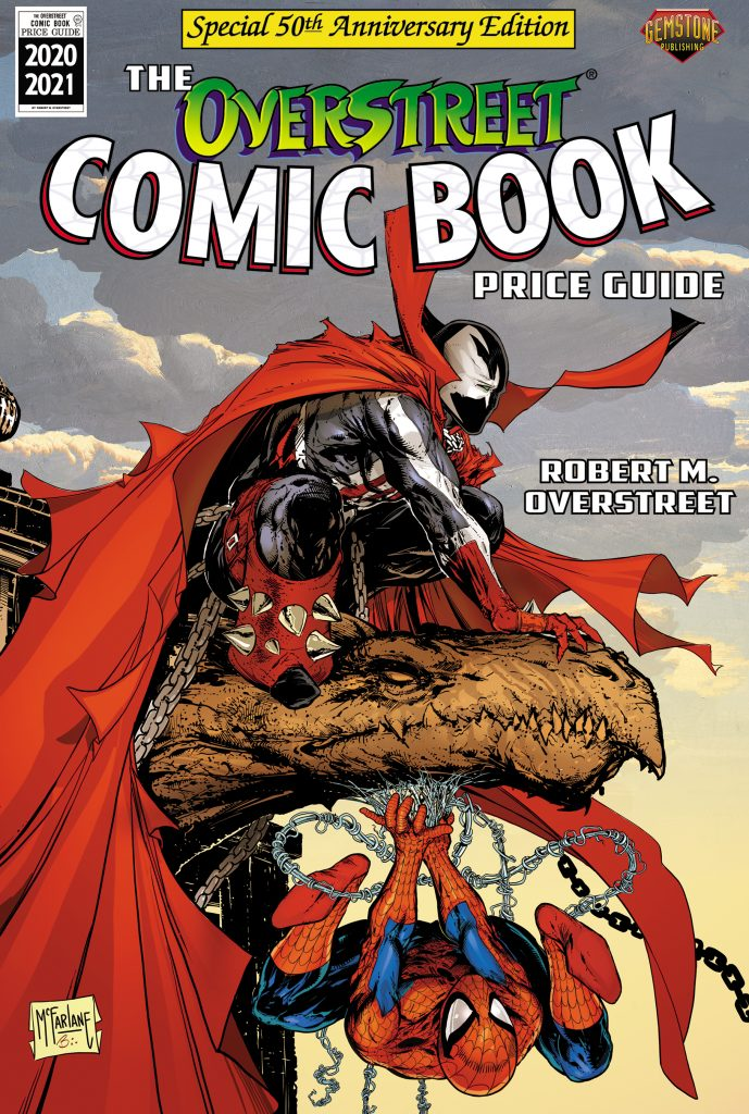 Acclaimed artist Todd McFarlane brings his creator-owned character Spawn together with Marvel's top-selling Spider-Man, the character that propelled him to fame, on the golden anniversary edition of The Overstreet Comic Book Price Guide.