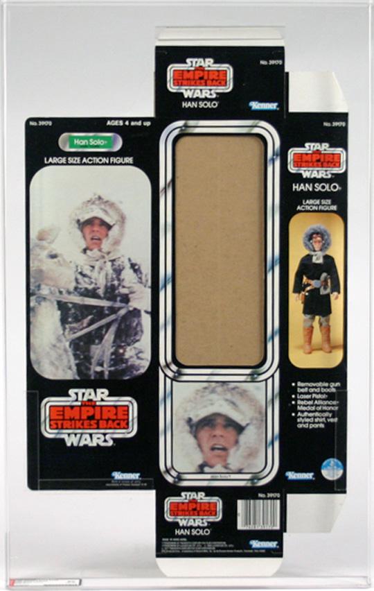 "$7,500: Star Wars Box Flats ESB 12"" Han Solo Hoth AFA 90"