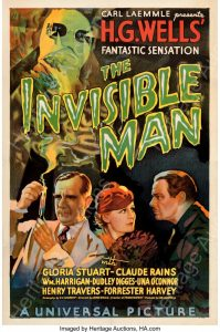 1933 Invisible Man poster, $182,400, Heritage Auctions