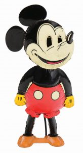 Mickey Mouse tin wind-up, $64,575, Morphy Auctions