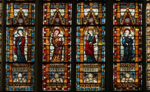 Medieval window series, Troyes Cathedral, France, 14th century.