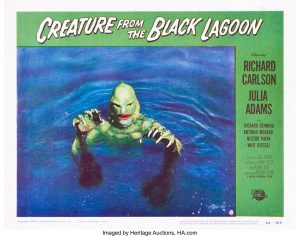 Note: because the original photo from 2008 was not printable now, it was replaced with this photo of the same lobby card from Heritage Auctions, HA.com.