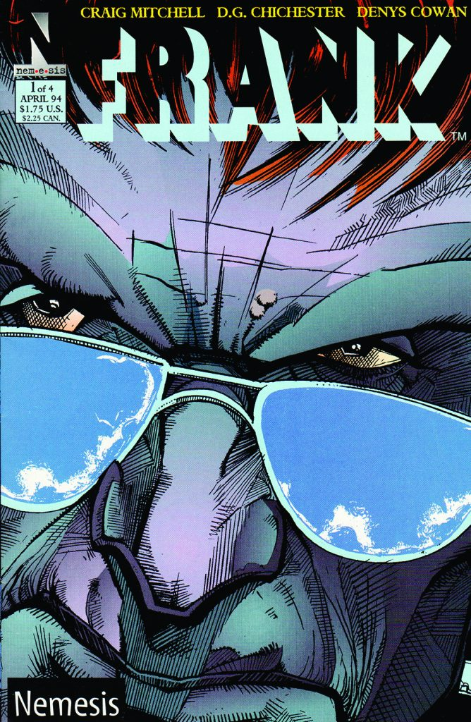 The cover for Frank #1 from Nemesis Comics (1993), a short-lived imprint of family-friendly longtime comic book publisher Harvey Comics.
